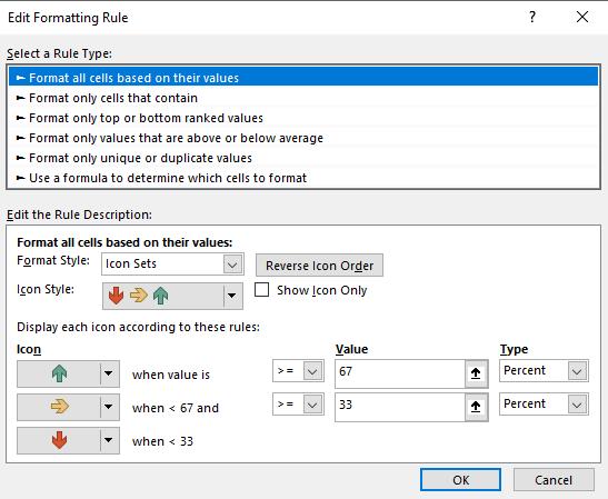 Conditonal Formatting In Excel 16