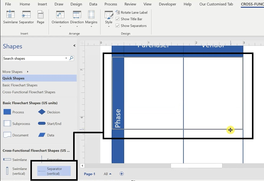 How To Create A Swimlane Diagram In Ms Visio 10