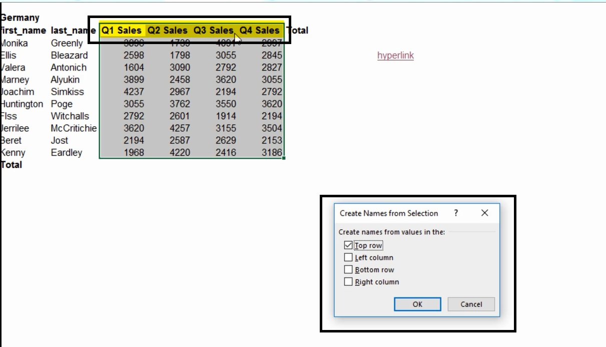 How To Create Name Range In Excel 3