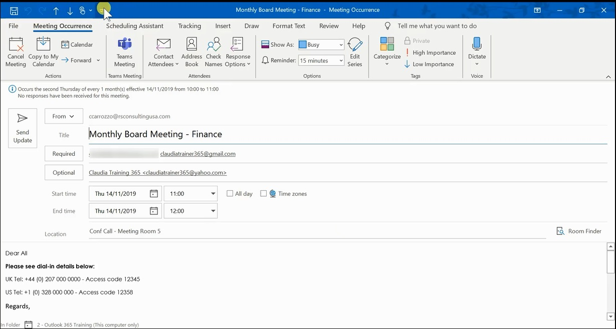 How To Print Calendar In Outlook 2