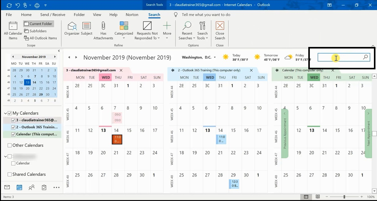 How To Search Calendar In Outlook 1