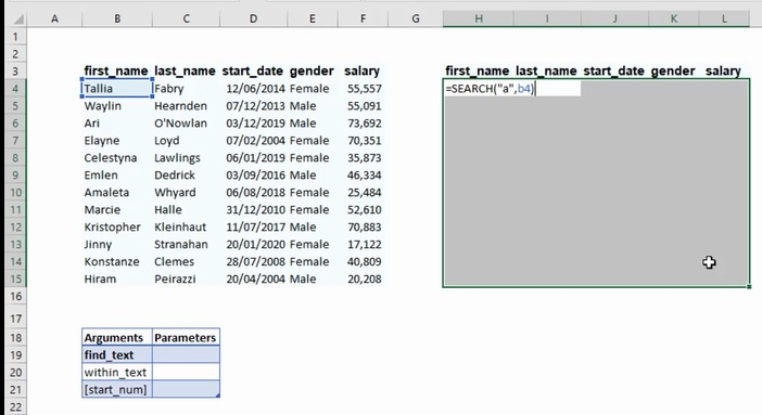 How To Use The Excel Search Function 1
