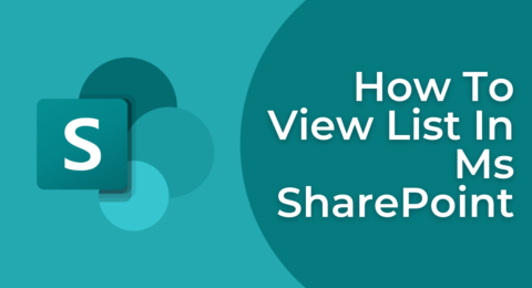 How To View List In Ms SharePoint