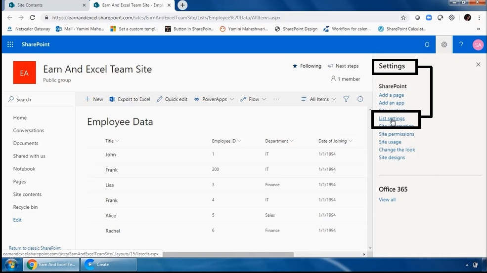 How To View List In Ms SharePoint 3