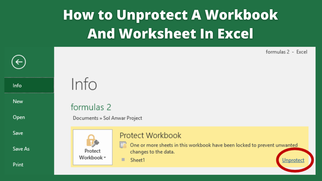 How to Unprotect A Workbook And Worksheet In Excel  Guide 20
