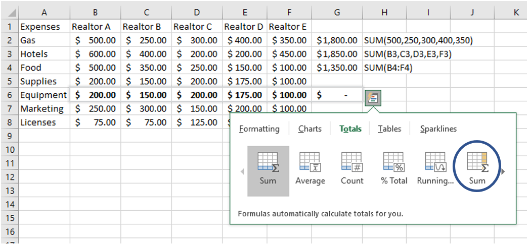 How To Use Excel SUM Function 2