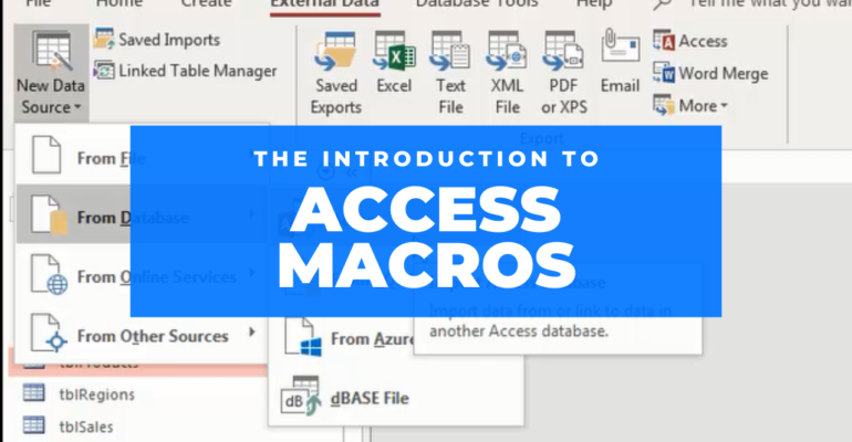 The Introduction To Access Macros