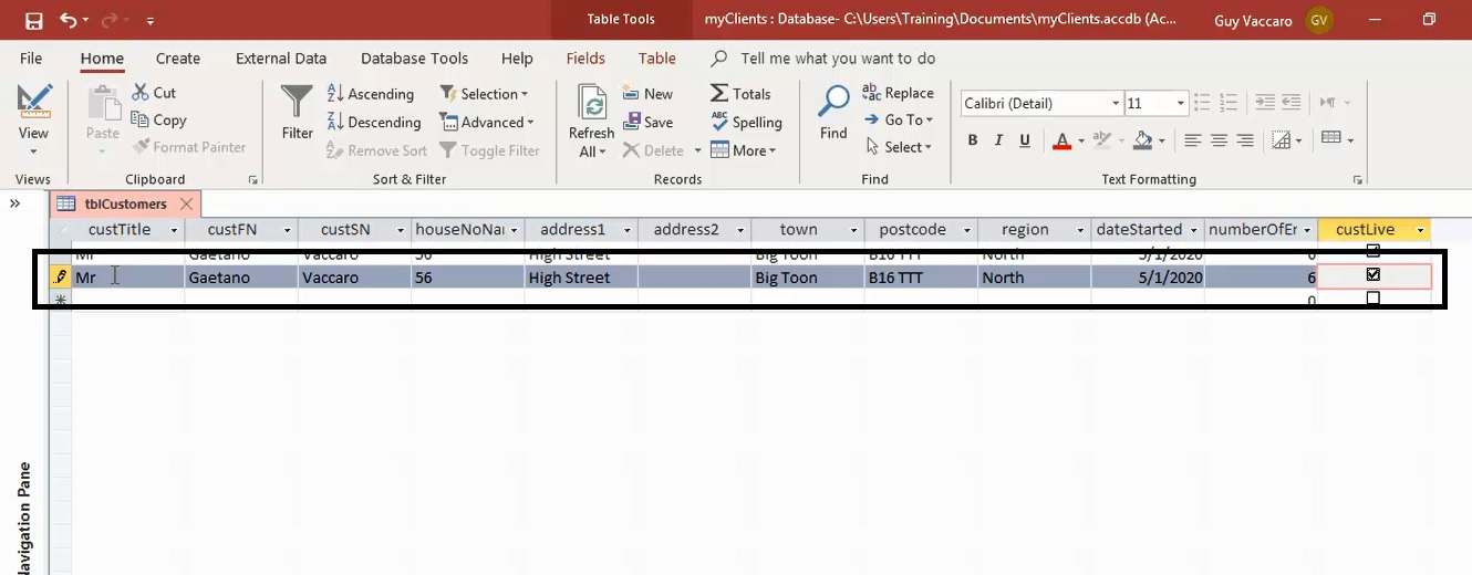 The Primary Key Feature In Ms Access 1