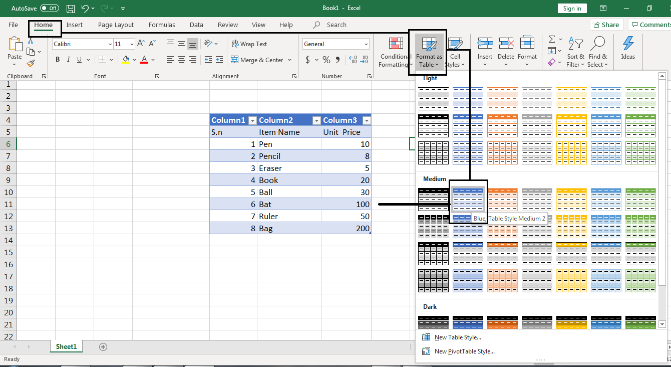 How Excel Color Every Other Row 2
