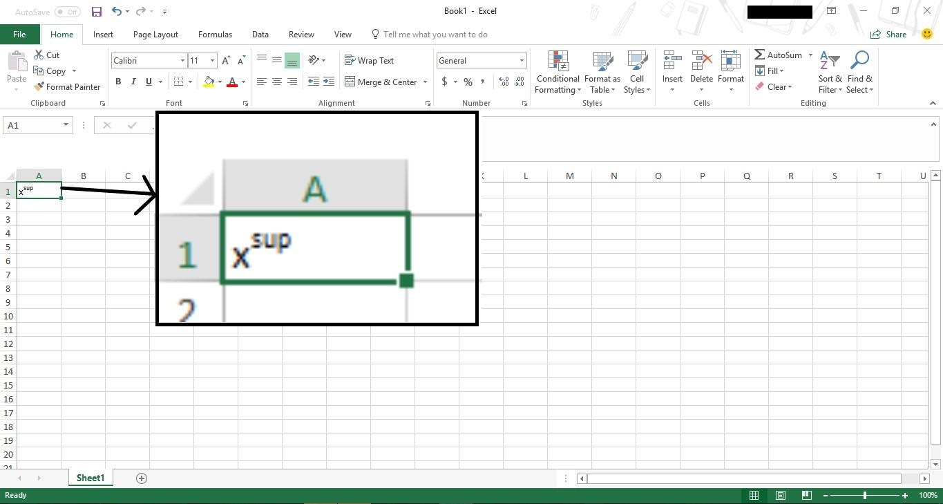 subscripts and superscripts in excel 2016 10