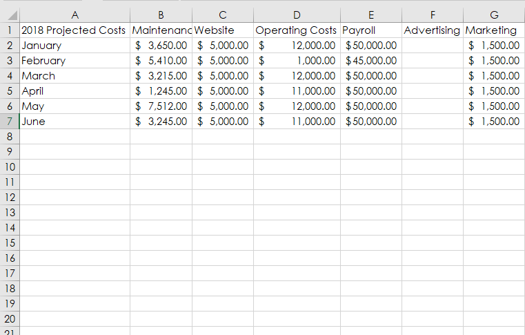 Dollar Excel 6