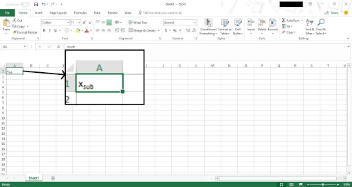 subscripts and superscripts in excel 2016 7